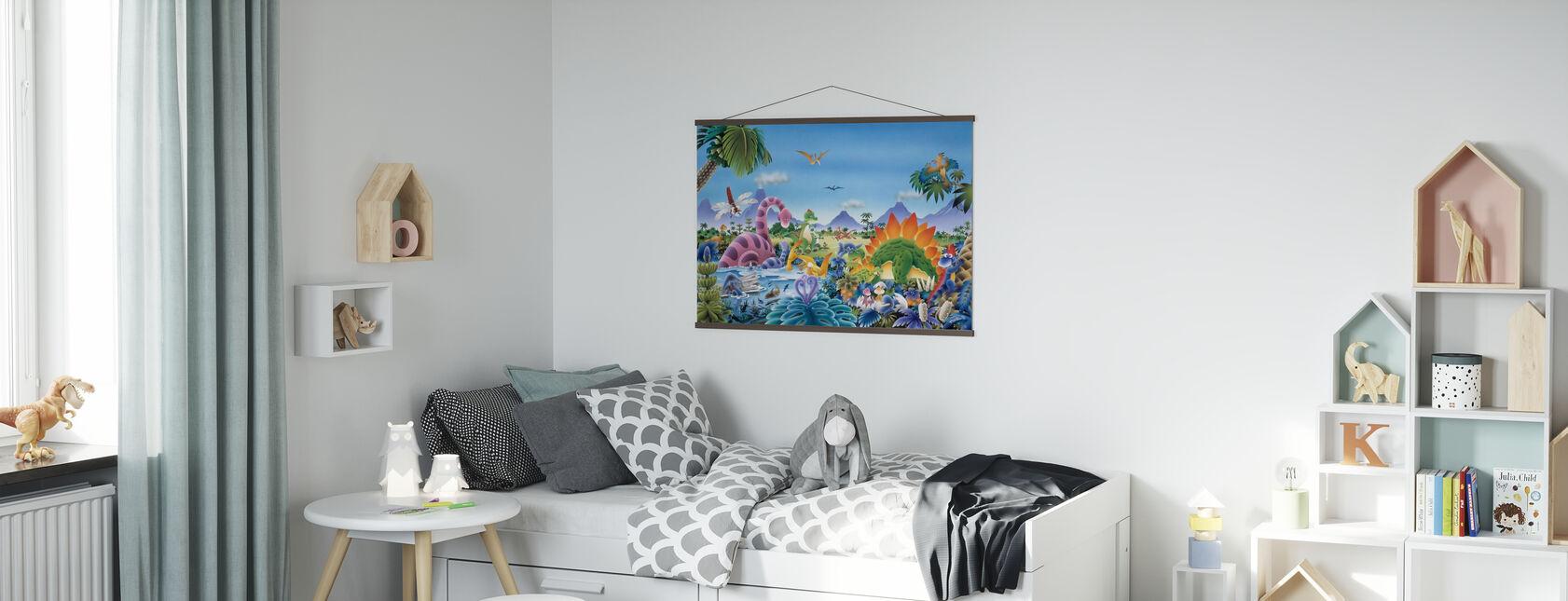 Dinosaur Land - Poster - Kids Room