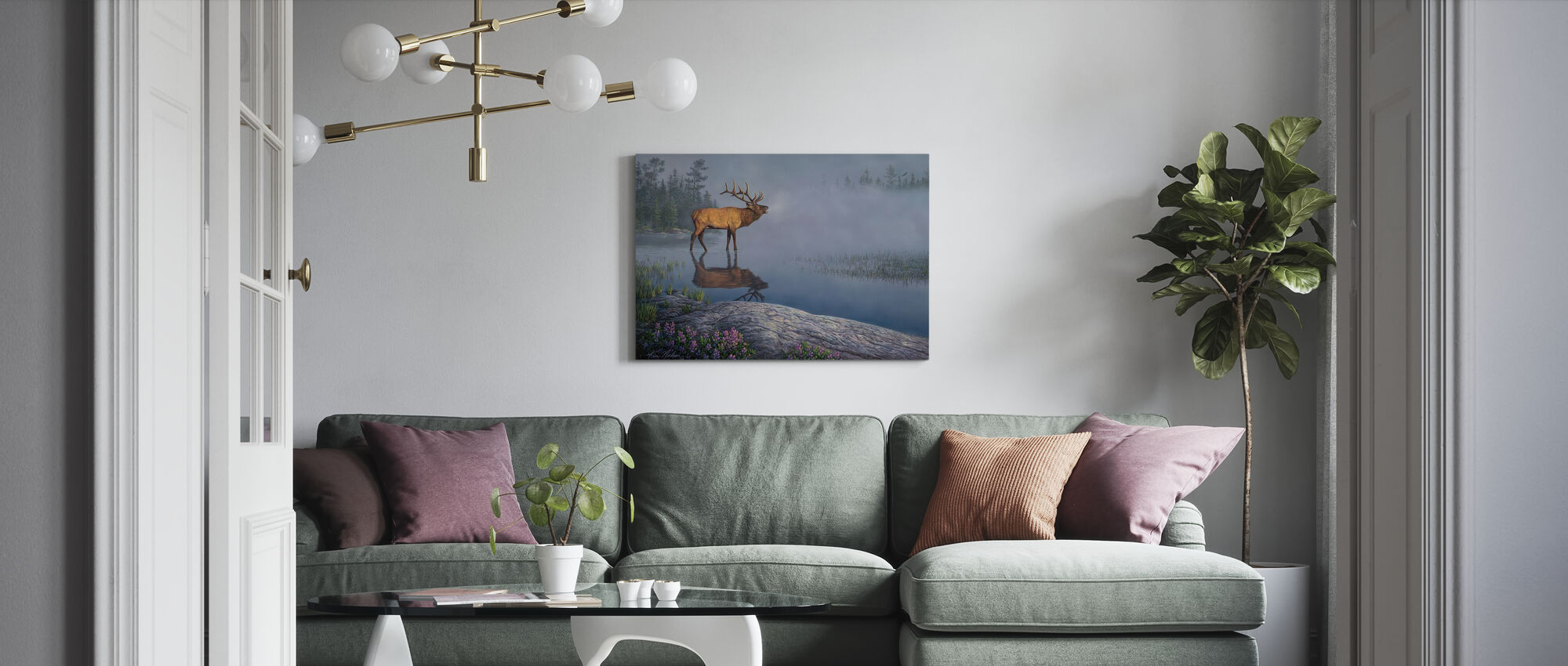 Bugle Boy - Canvas print - Living Room