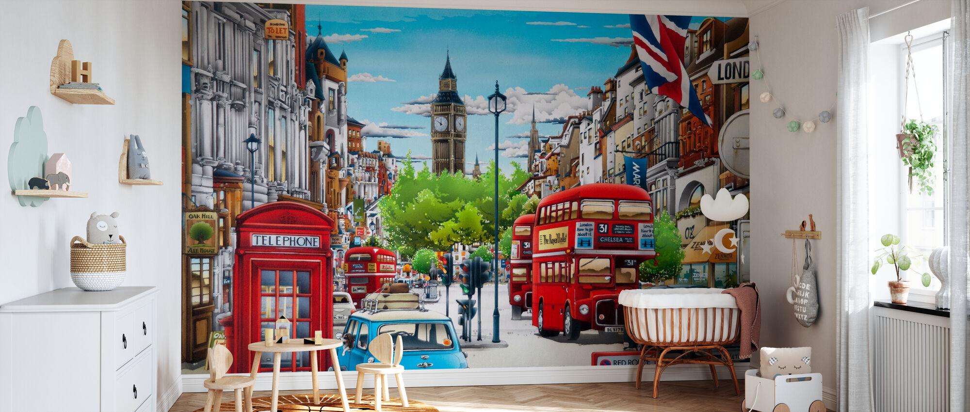 Londen - Behang - Babykamer