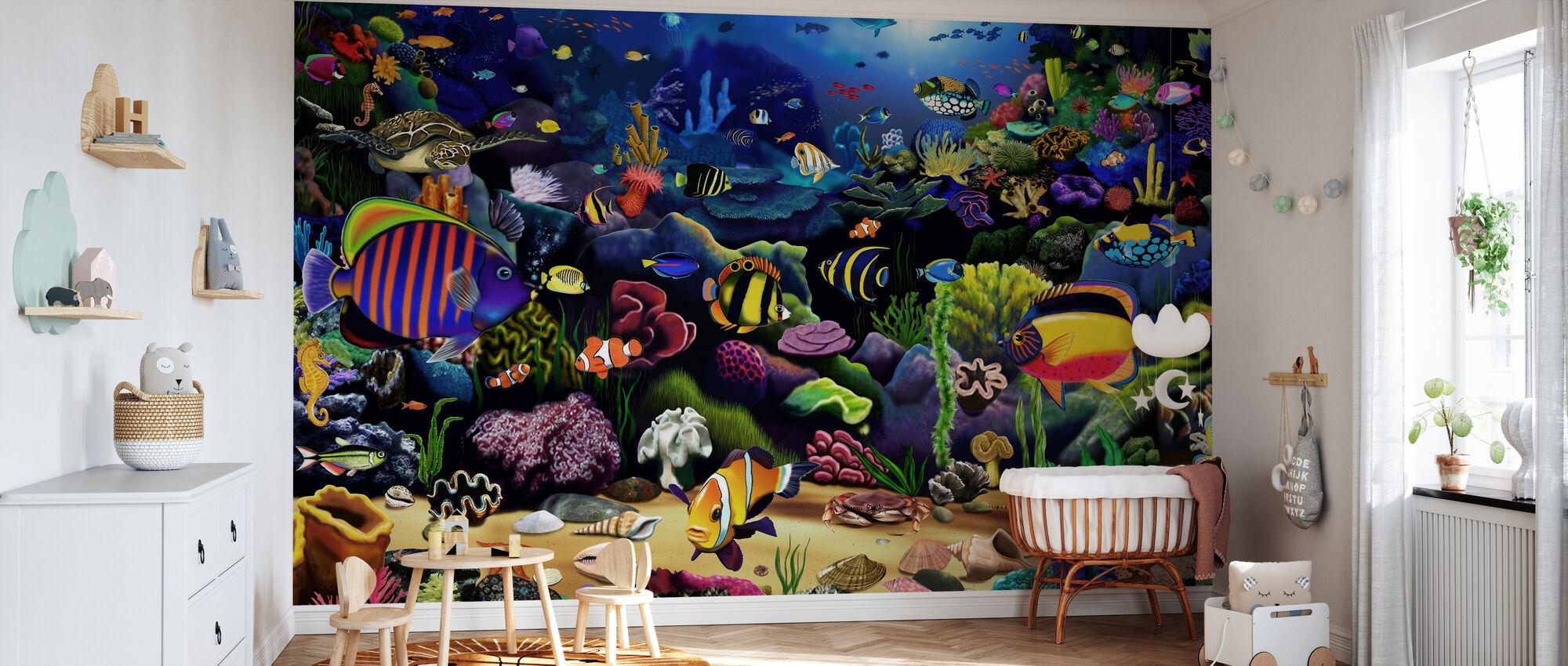 Colourful Reef - Wallpaper - Nursery
