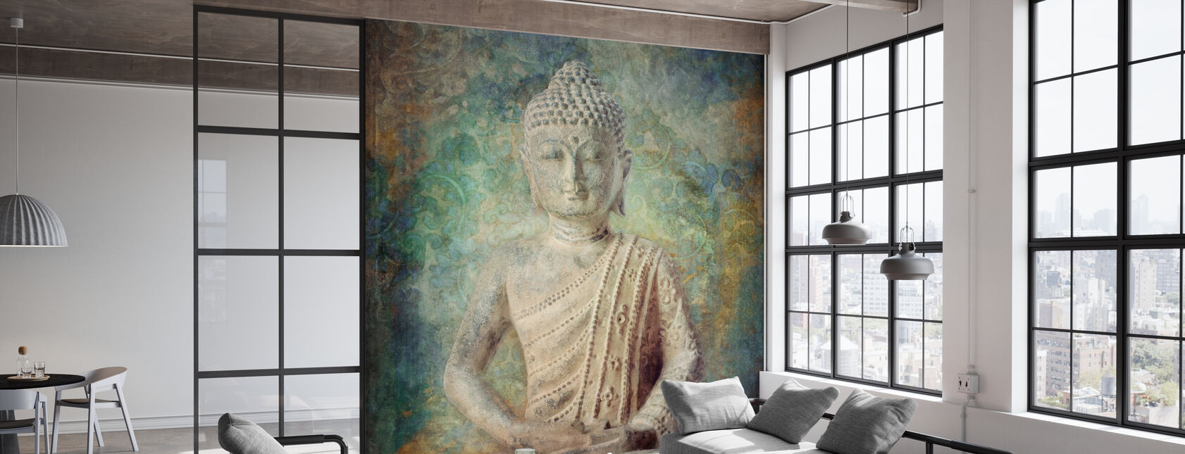 Tranquil Buddha Squared - Wallpaper - Office