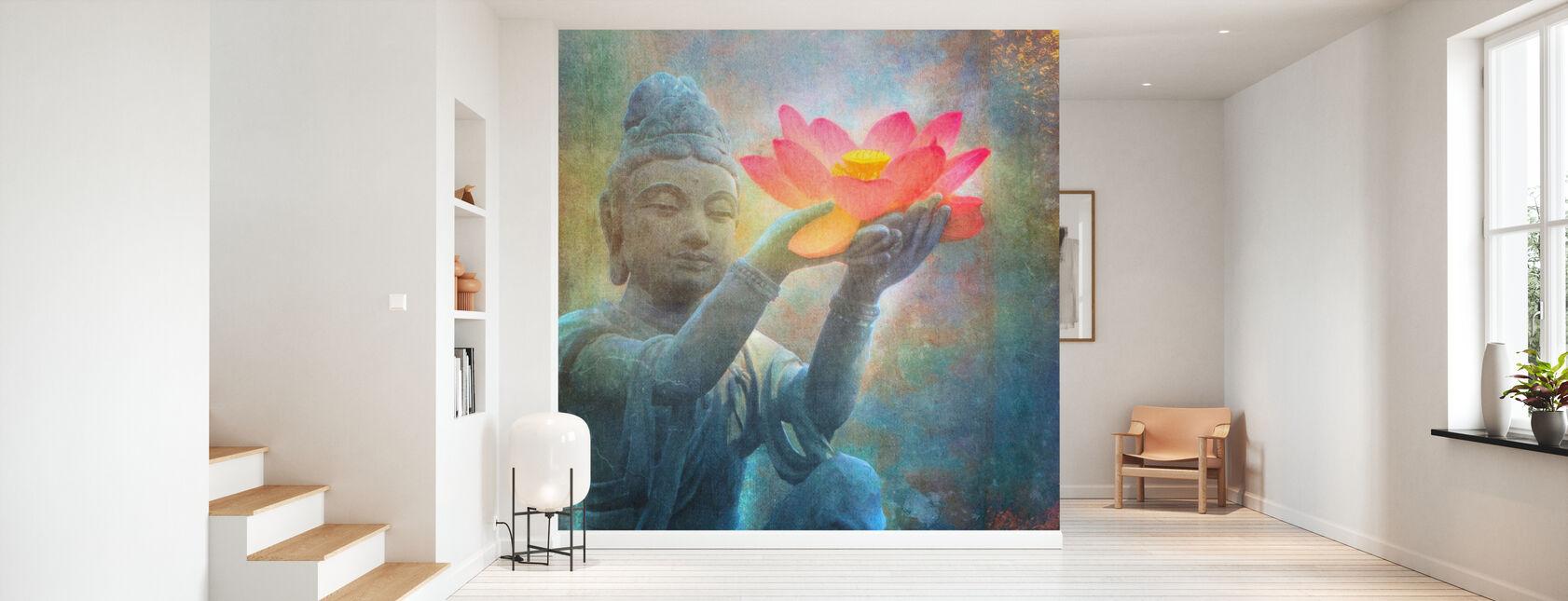 Lotus Budda Squared - Wallpaper - Hallway