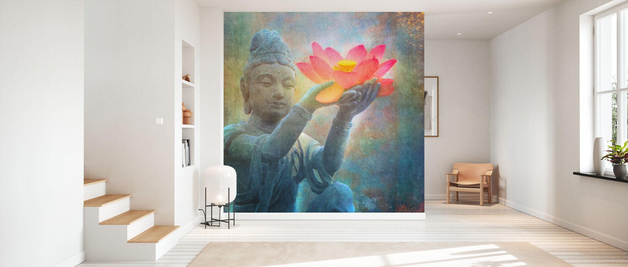 Lotus Budda kvadrat - Tapet - Hall