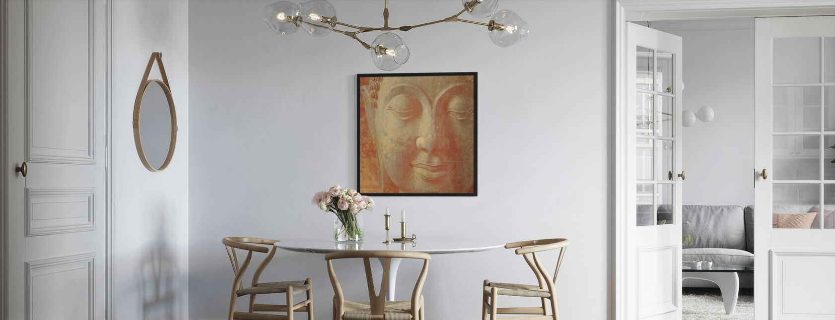Szafran Budda kwadratu - Plakat - Kuchnia