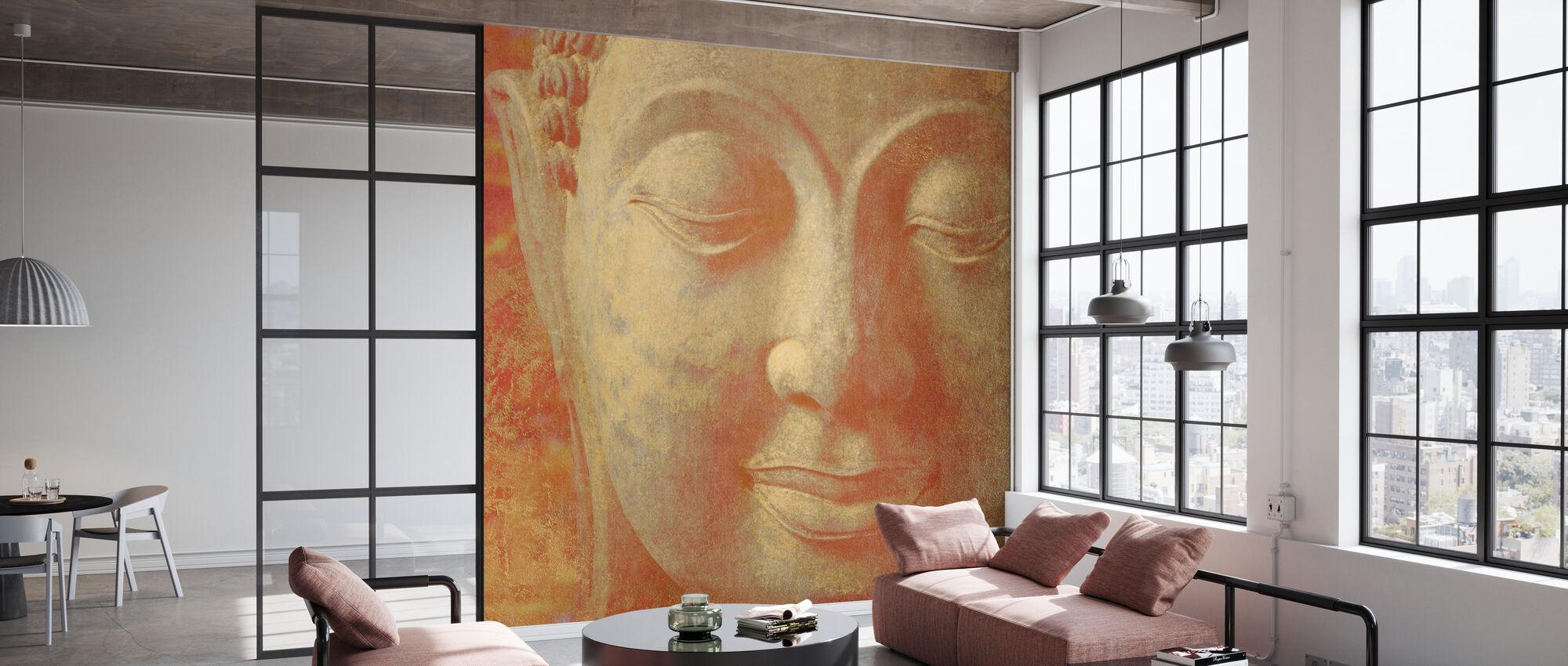 Safran Buddha kvadreret - Tapet - Kontor