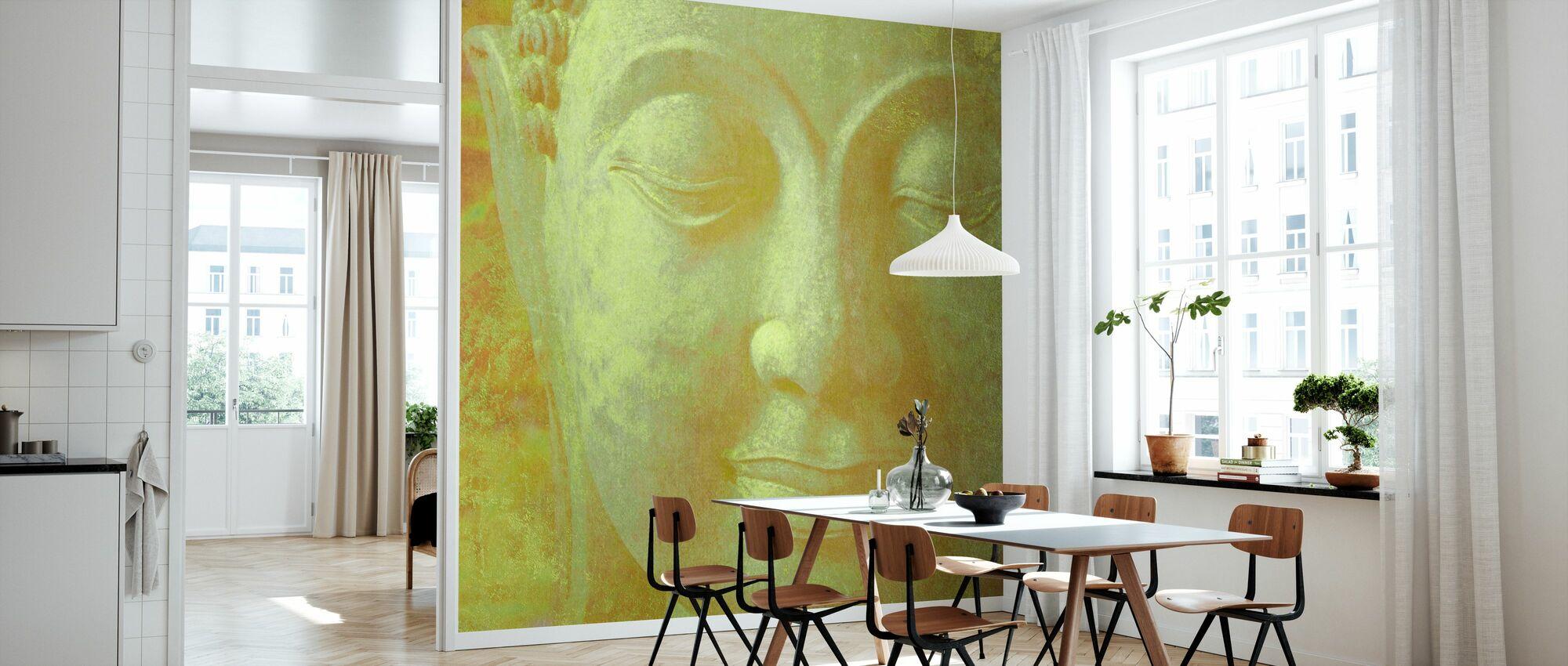 Yellow Buddha Squared - Wallpaper - Kitchen