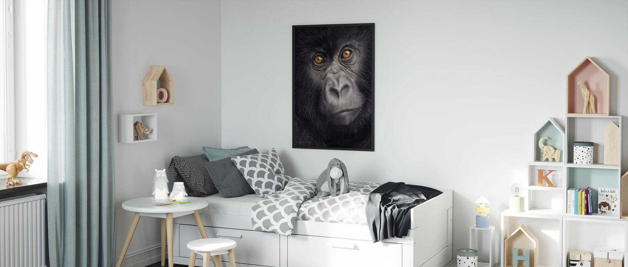 Unga berget Gorilla - Poster - Barnrum