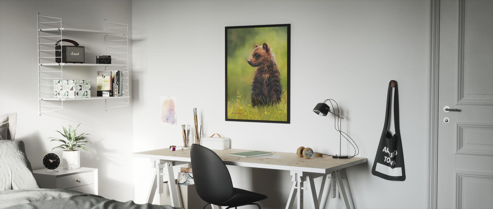 Brown Bear Cub - Poster - Kids Room