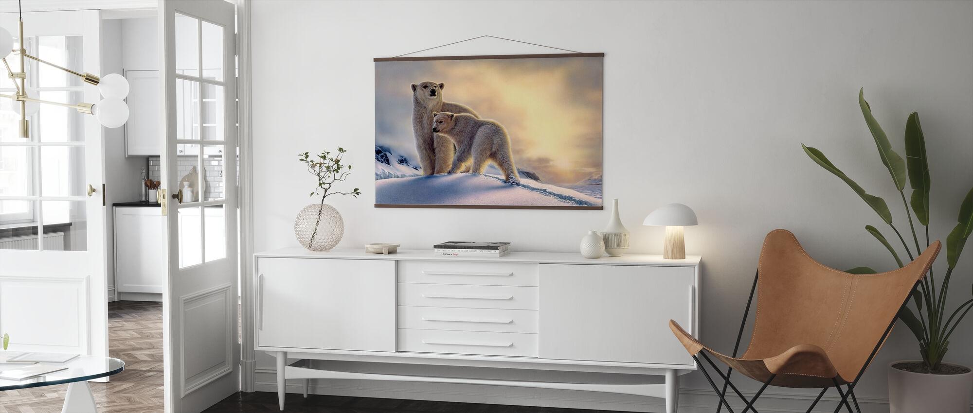 Arctic Dawn Polar Bears - Poster - Living Room