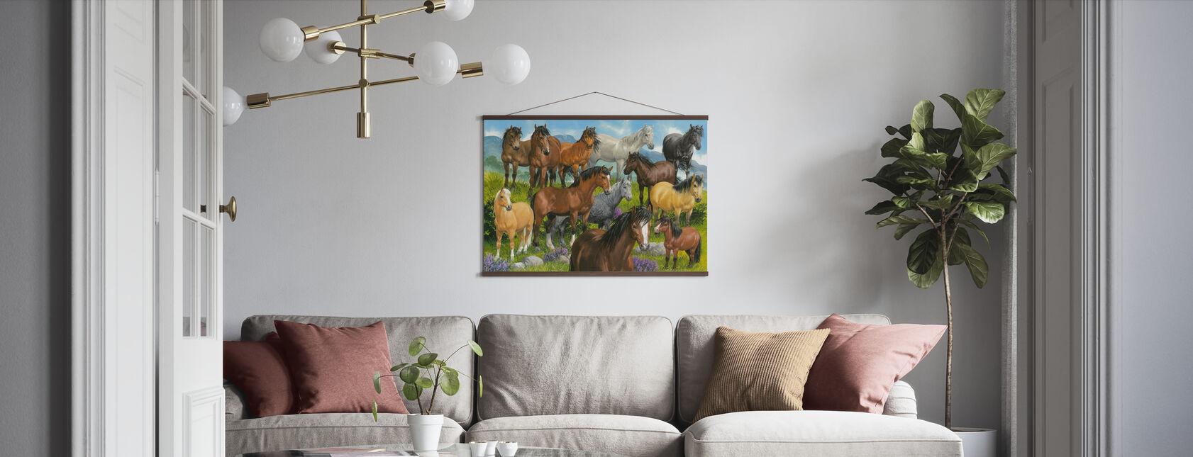 British Ponies - Poster - Living Room