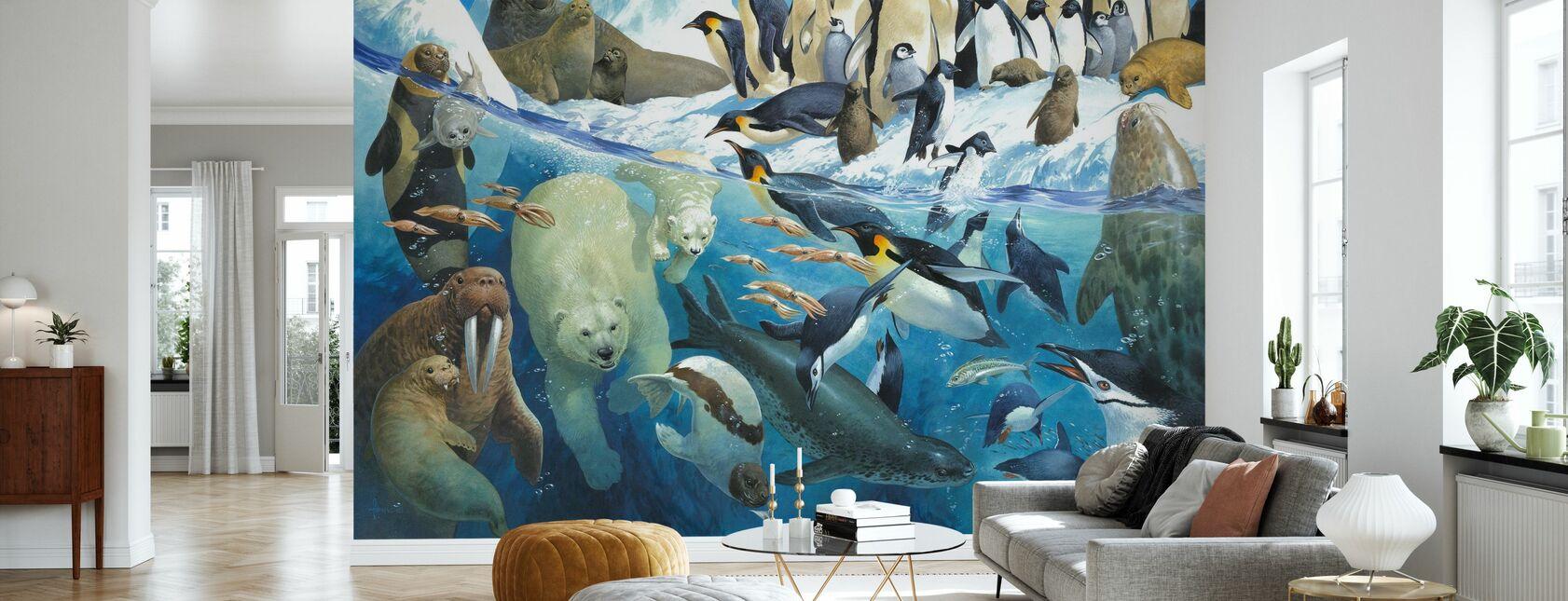 Polar Parents - Wallpaper - Living Room