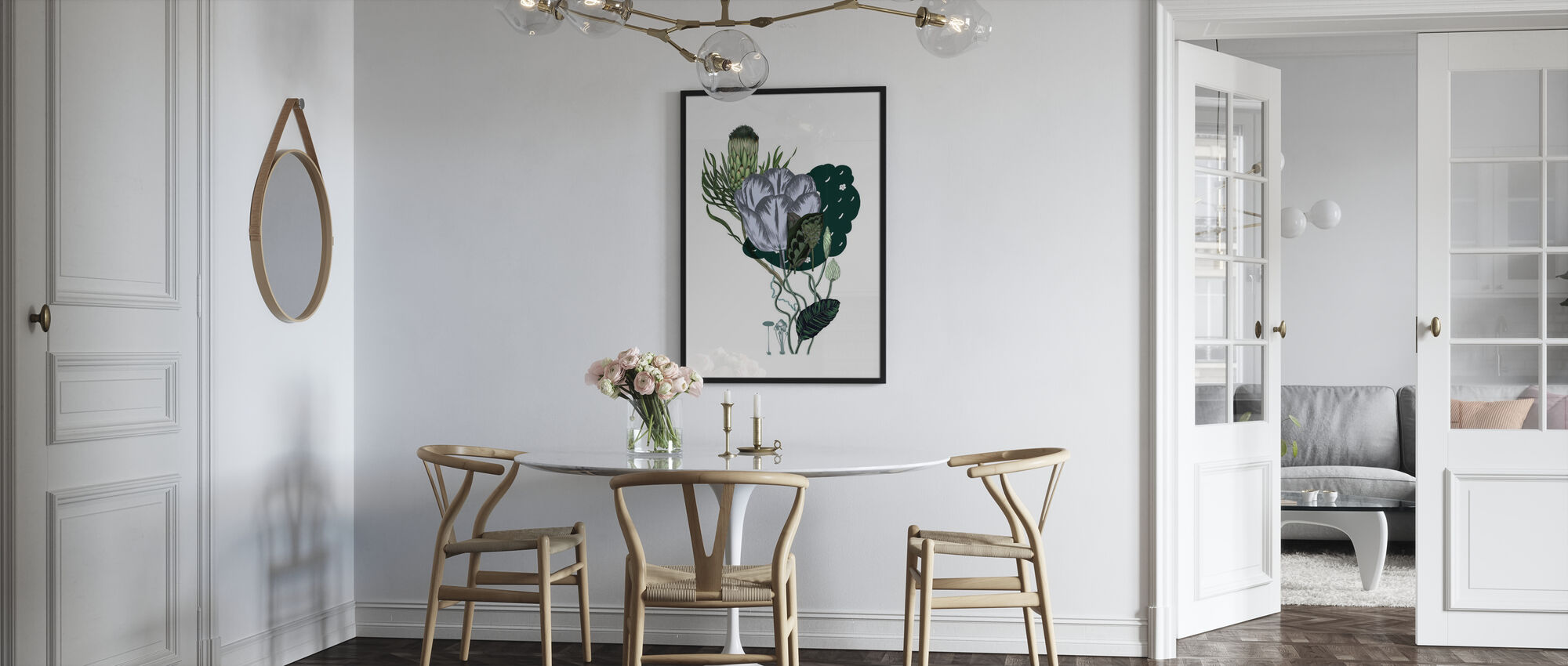 Artichoke Bouquet - Framed print - Kitchen