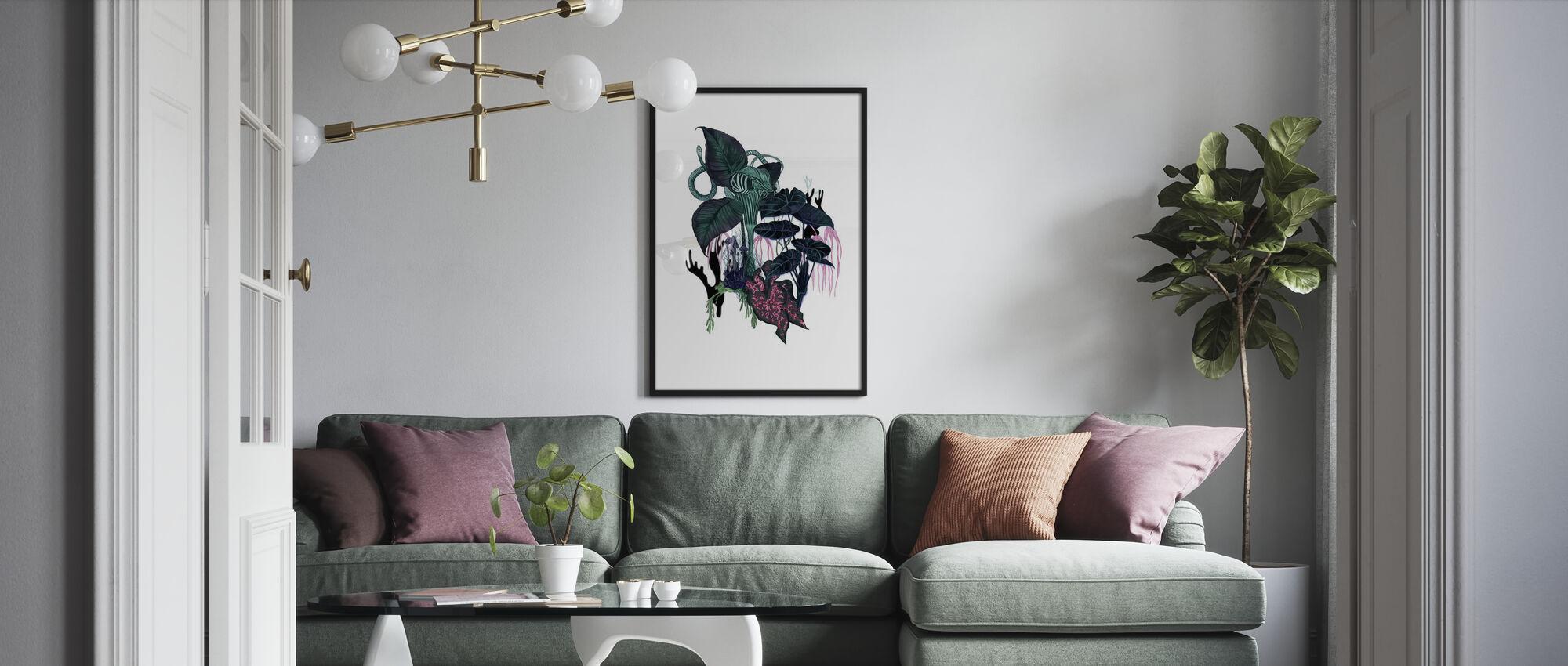 Dark Leaves - Poster - Living Room