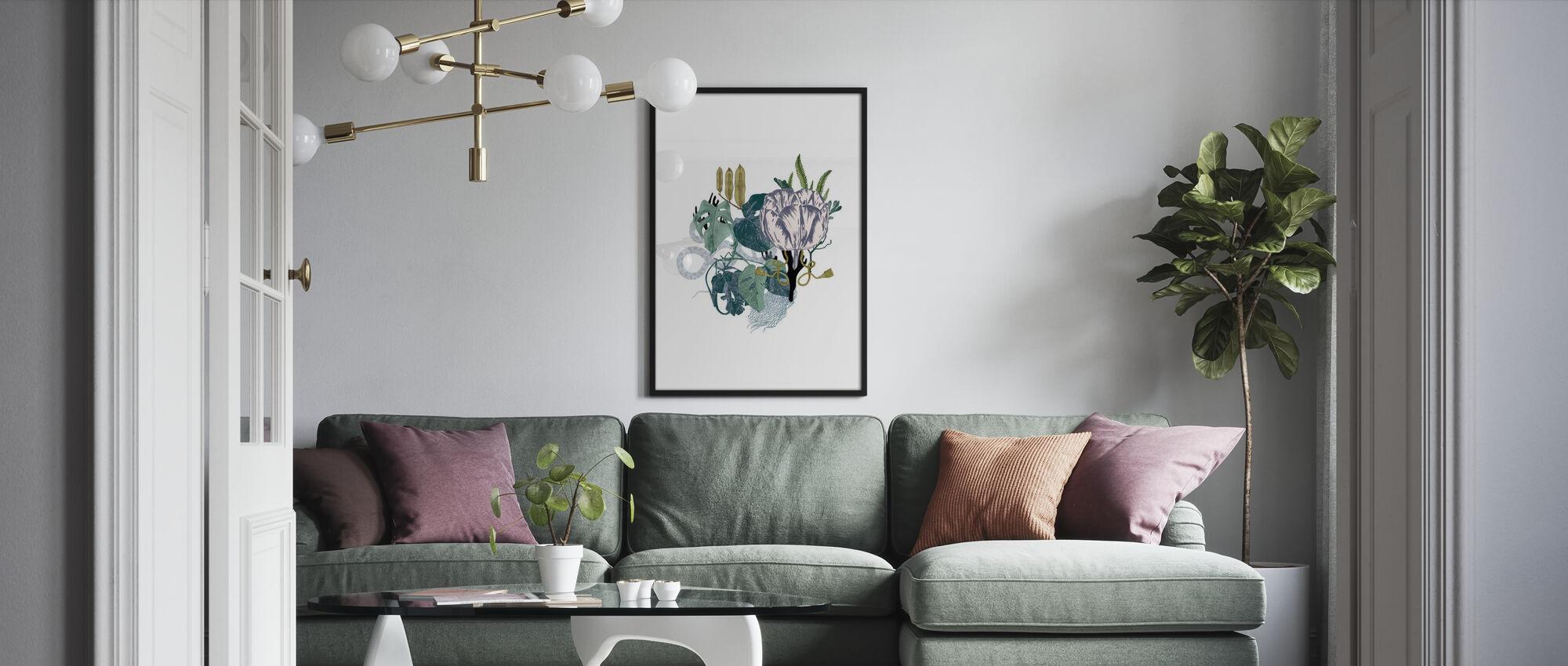 Blek tulpan - Poster - Vardagsrum