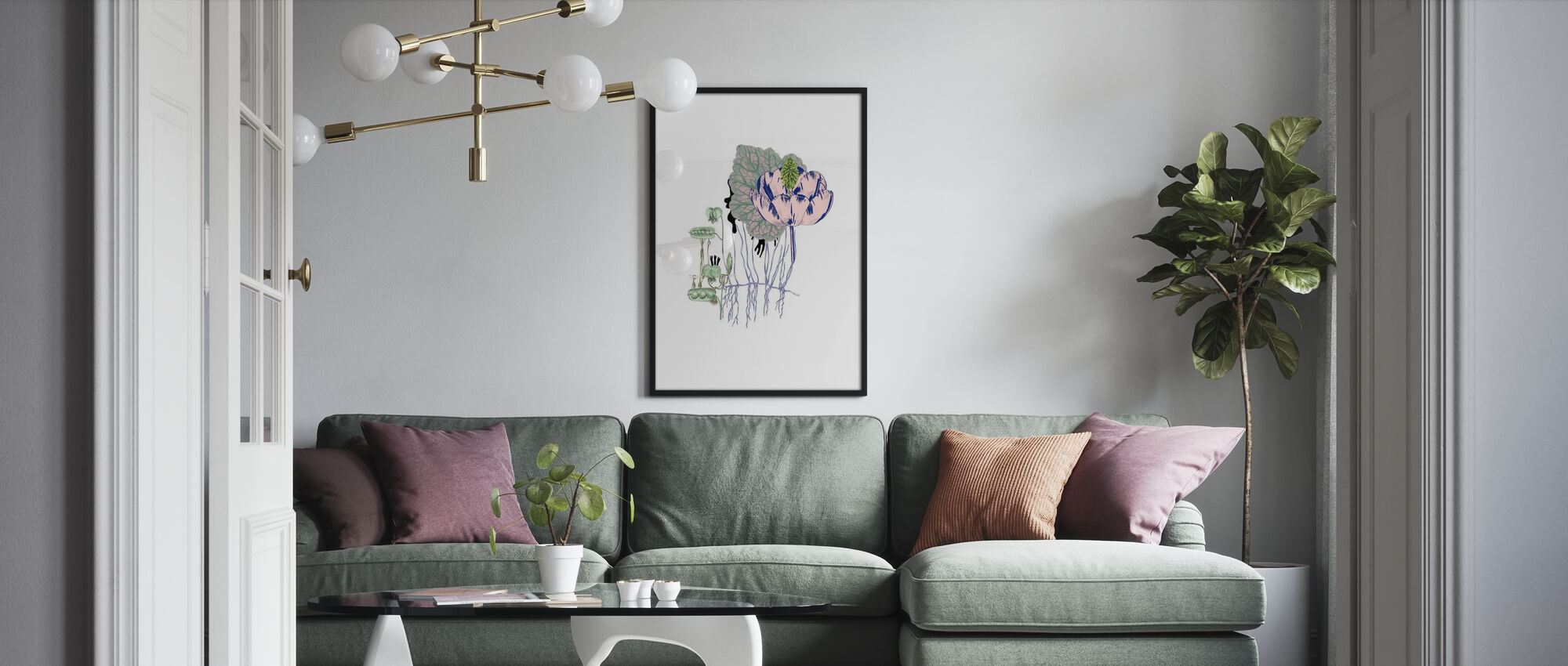 Sweet Pea Flora - Poster - Living Room