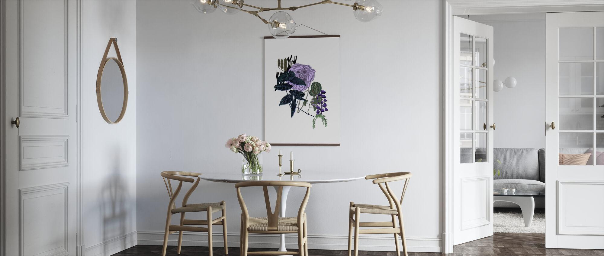 Violett klocka - Poster - Kök