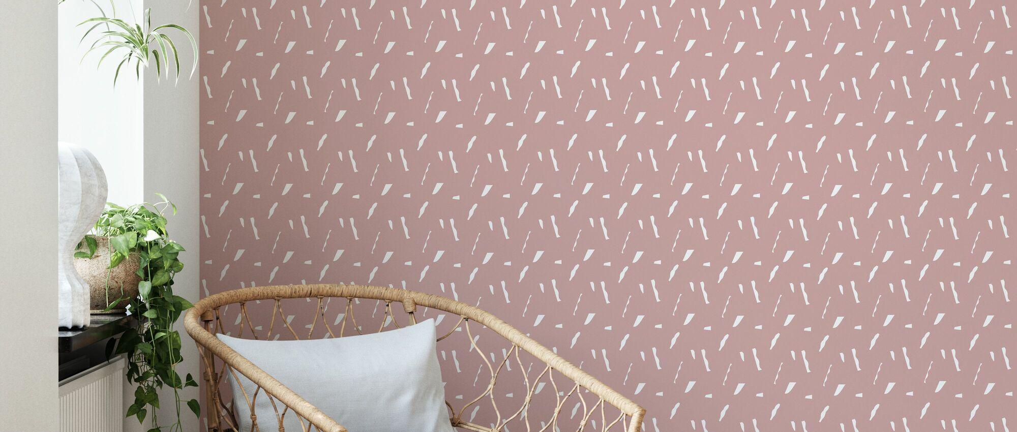 The Dream - Marsala Blush - Wallpaper - Living Room