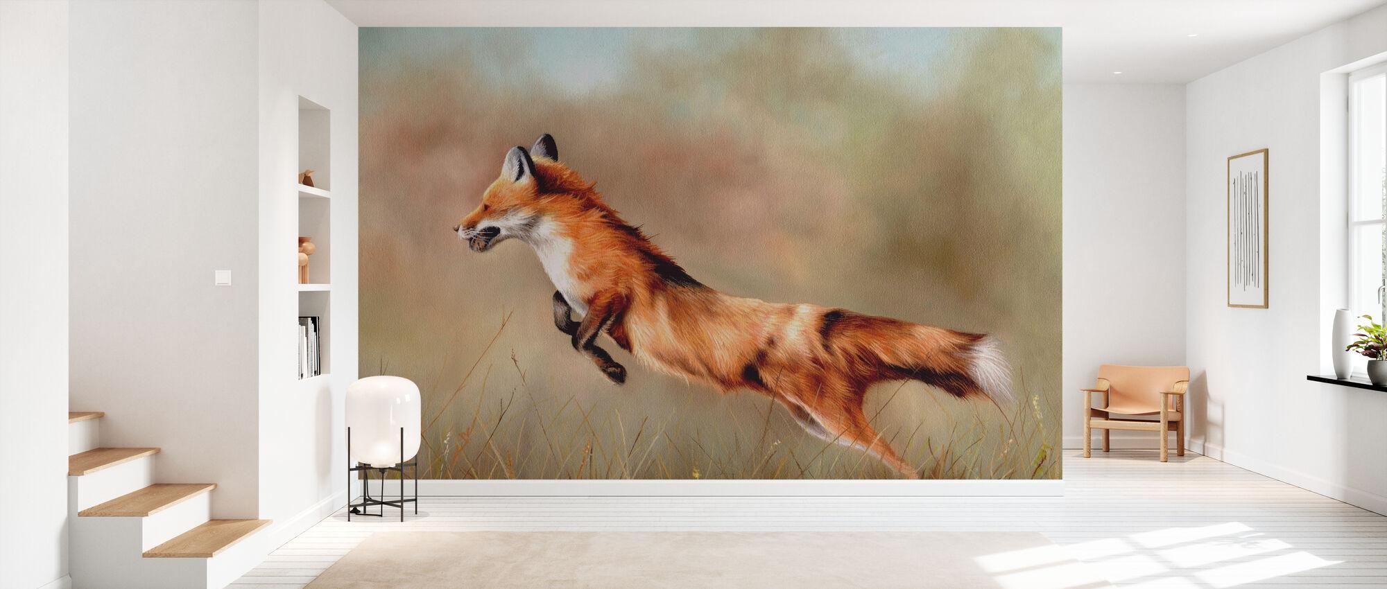 Rødt Fox - Tapet - Gang
