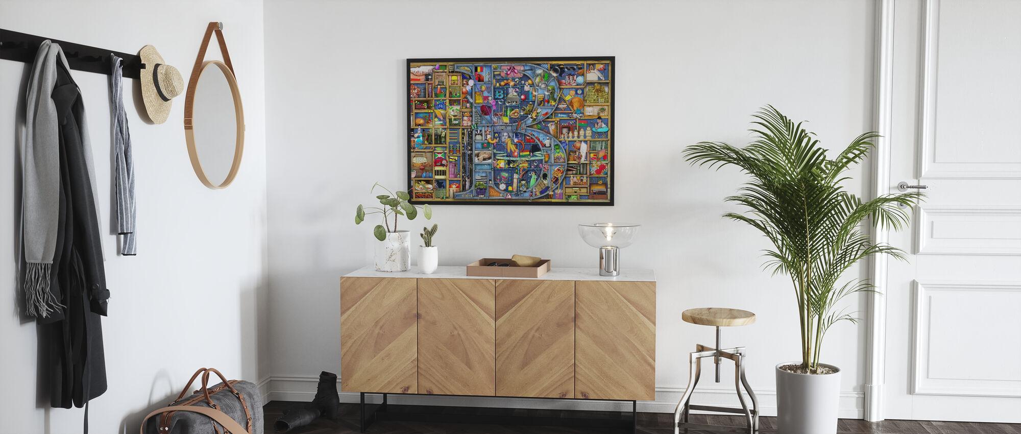 B Puzzle - Framed print - Hallway