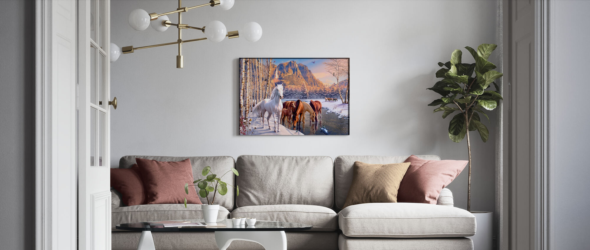 Winter Smelt - Canvas print - Woonkamer