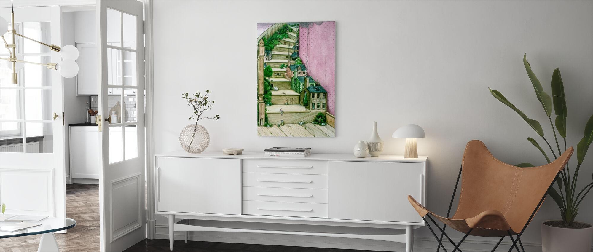 Levande Trappor - Canvastavla - Vardagsrum