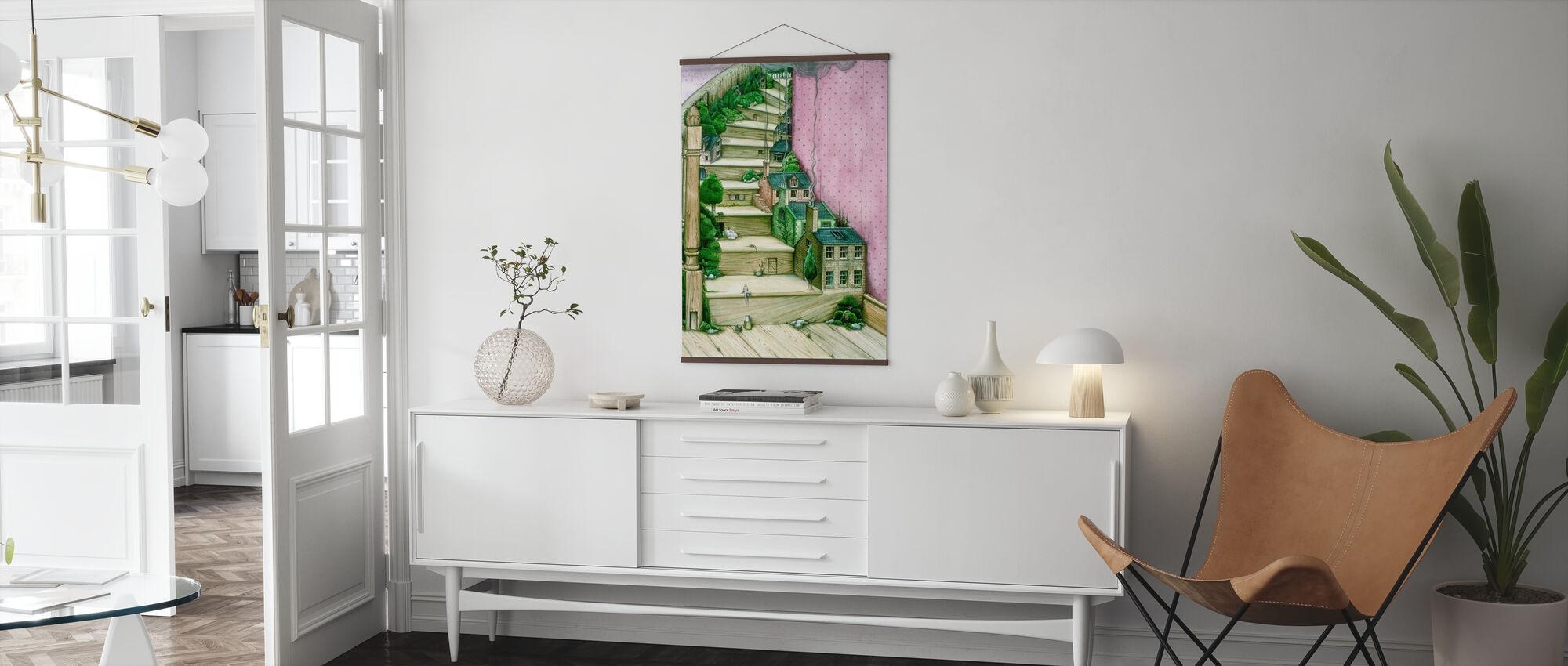 Wohntreppen - Poster - Wohnzimmer