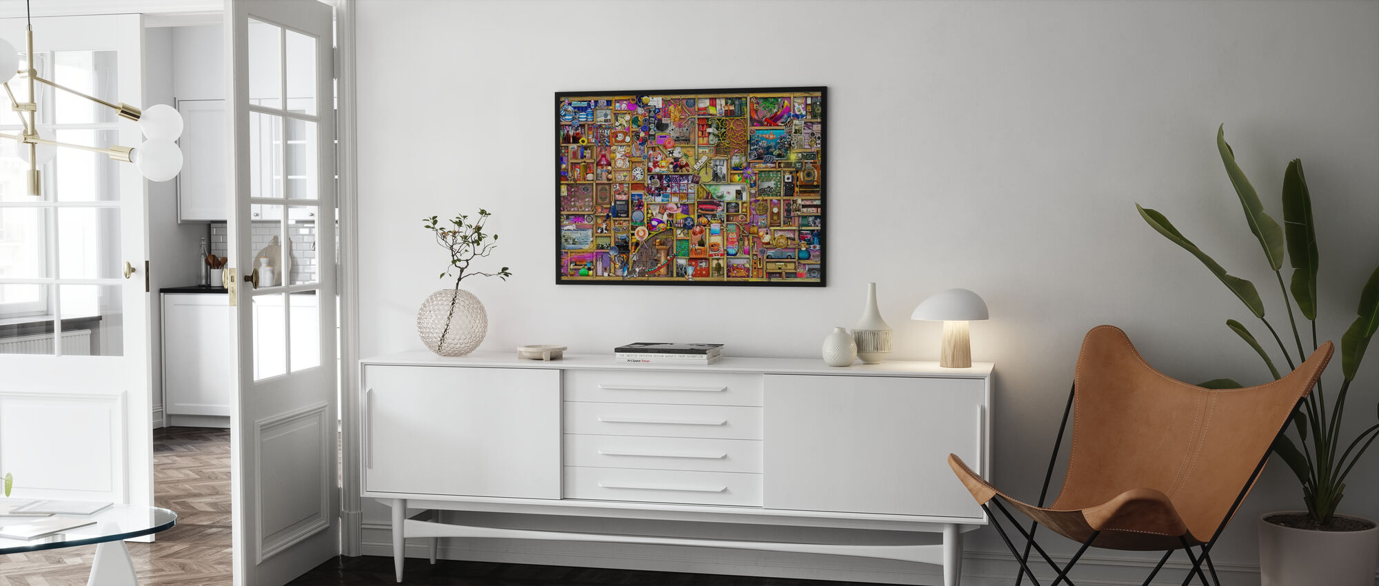 The Collectors Cupboard - Framed print - Living Room