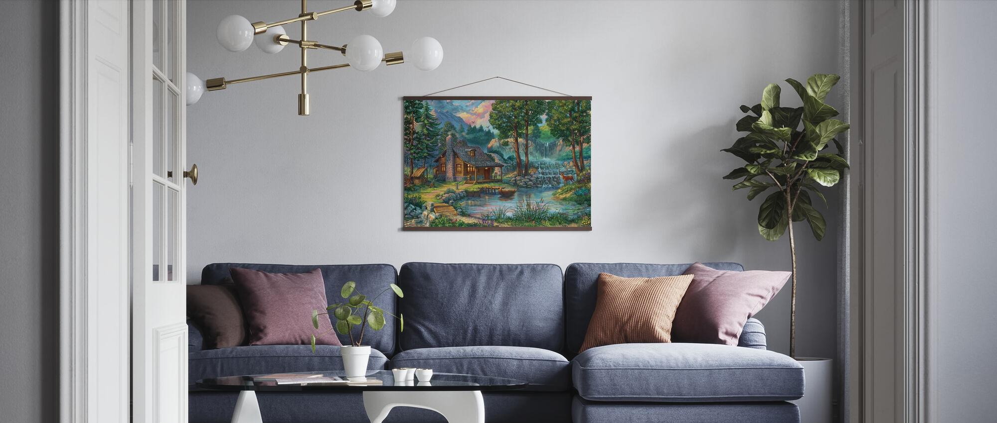 Hus på landet vid sjön - Poster - Vardagsrum