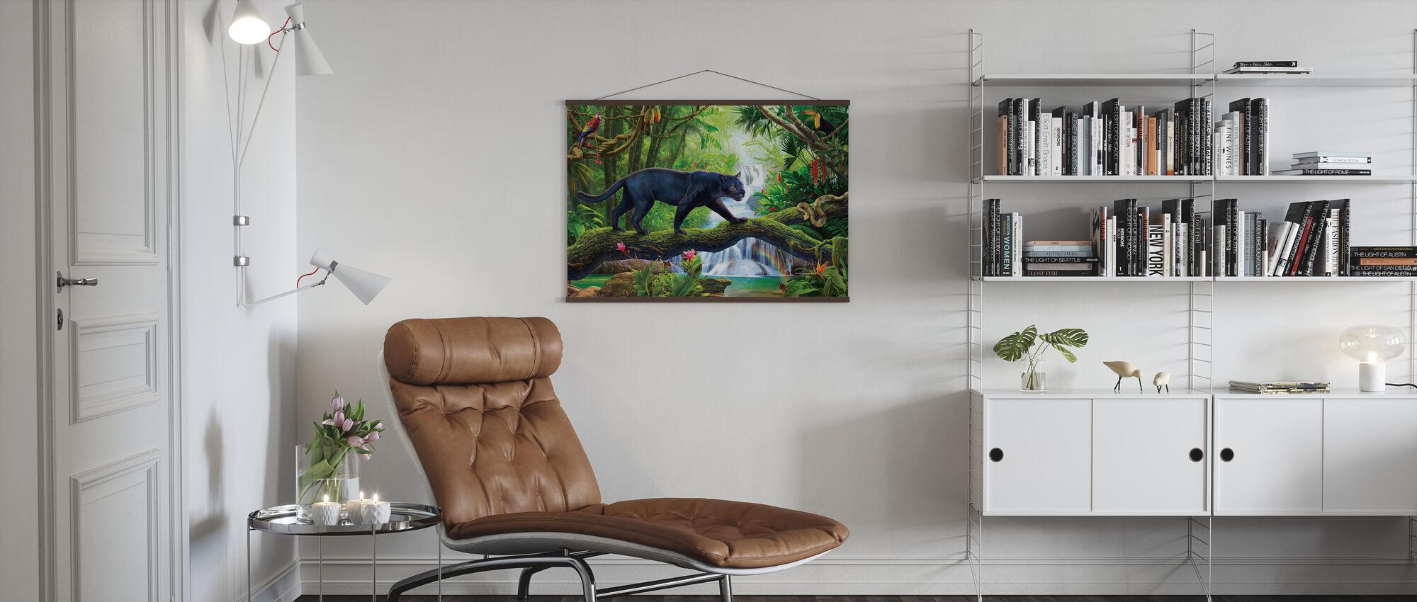 Panther im Dschungel - Poster - Wohnzimmer