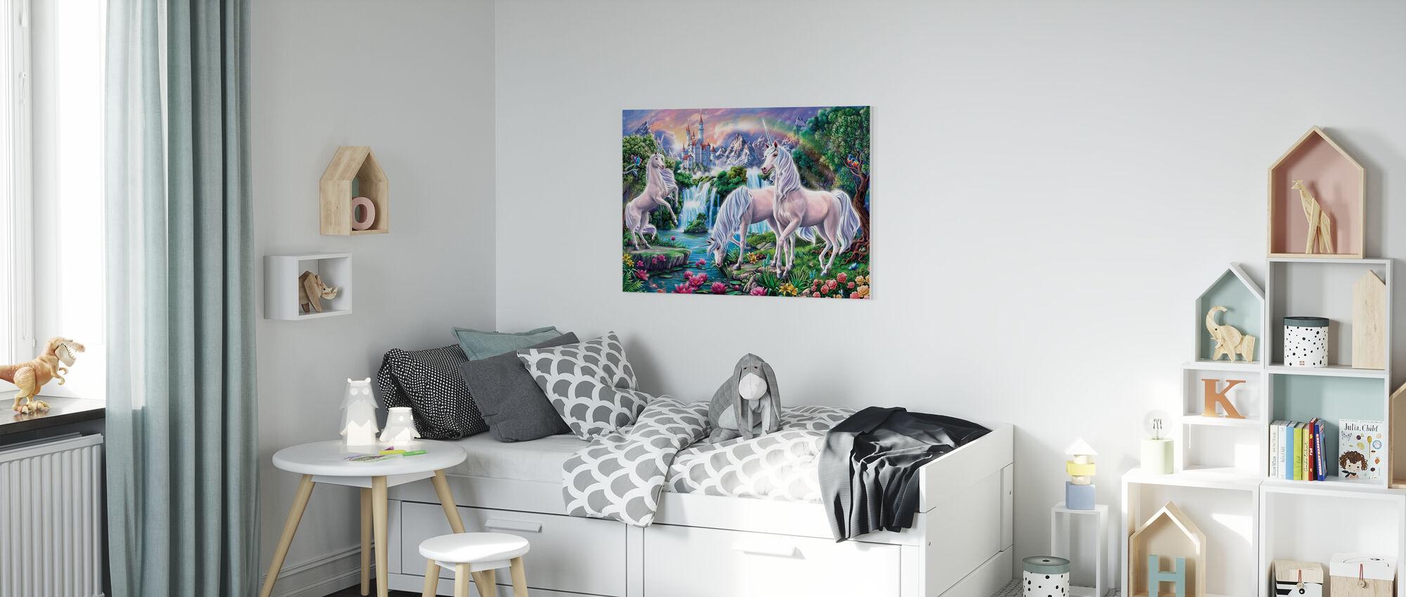 Unicorn Paradise - Canvas print - Kids Room