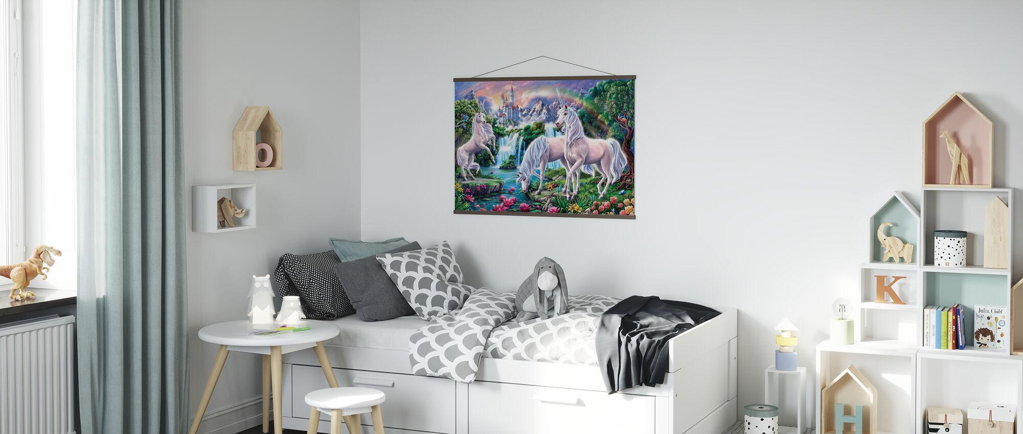 Eenhoorn Paradijs - Poster - Kinderkamer