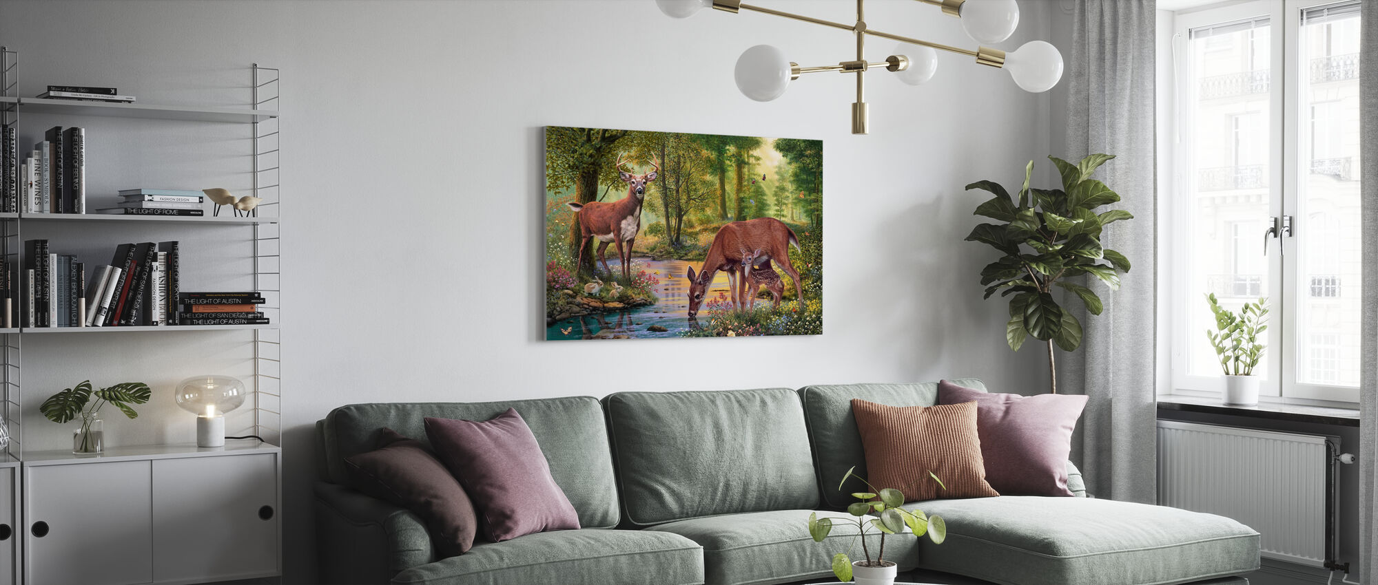 Woodland Stream - Canvas print - Living Room