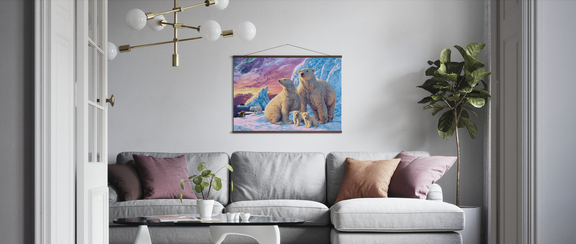 Polar Bears - Poster - Living Room