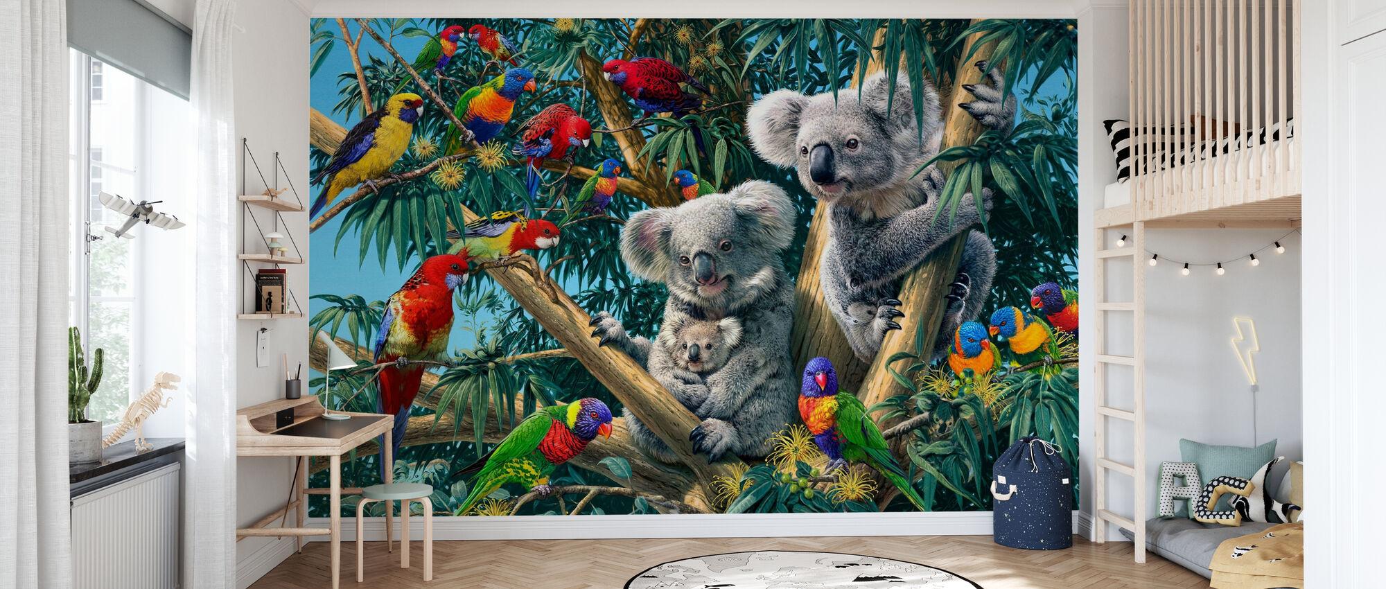 Koalan takamailla - Tapetti - Lastenhuone