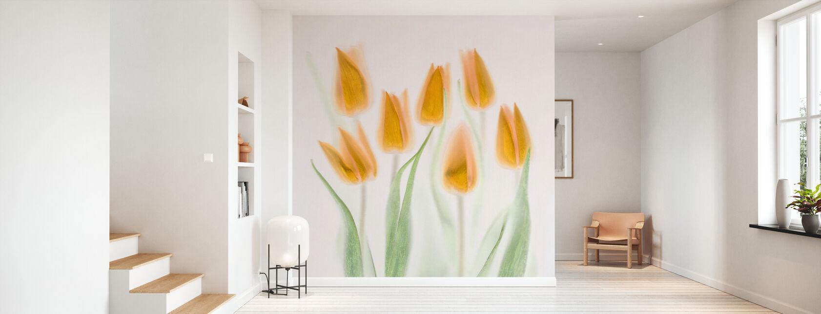 Tulipanes dorados - Papel pintado - Corredor