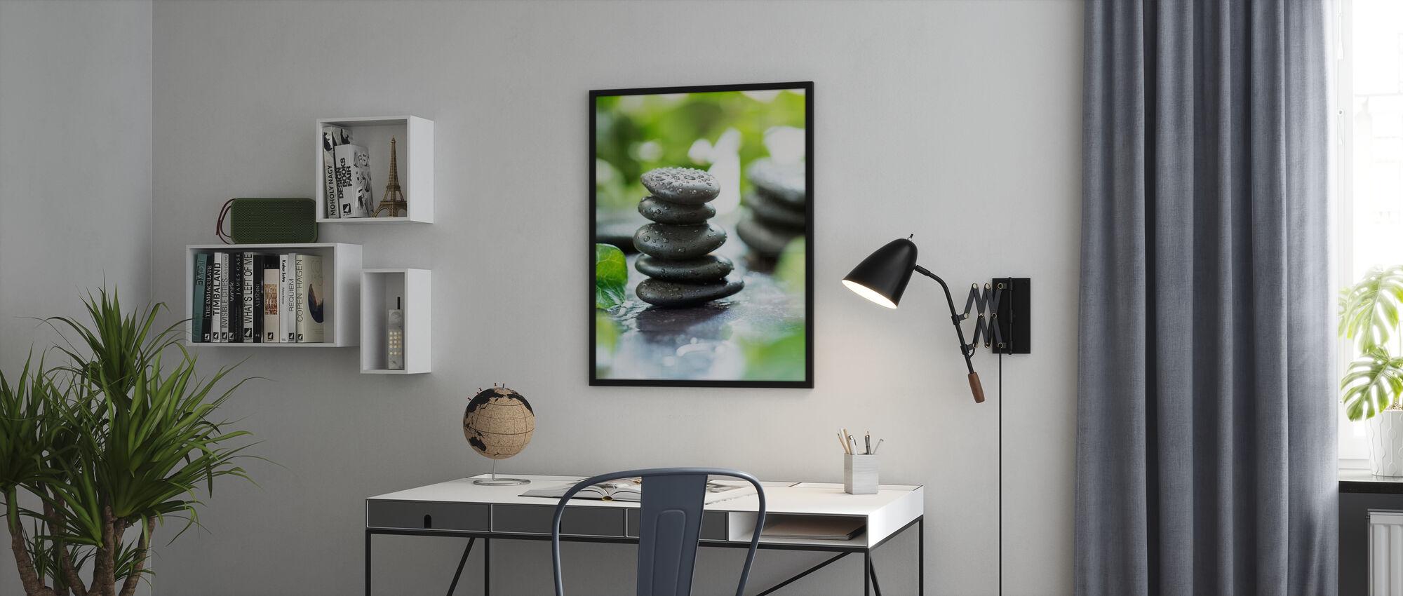 Zen Pebbles - Inramad tavla - Kontor