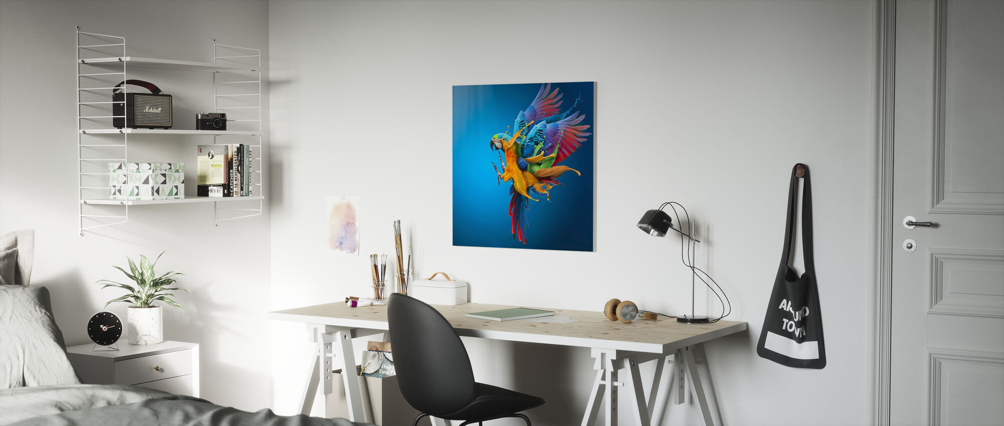 Flygende farger - Lerretsbilde - Barnerom