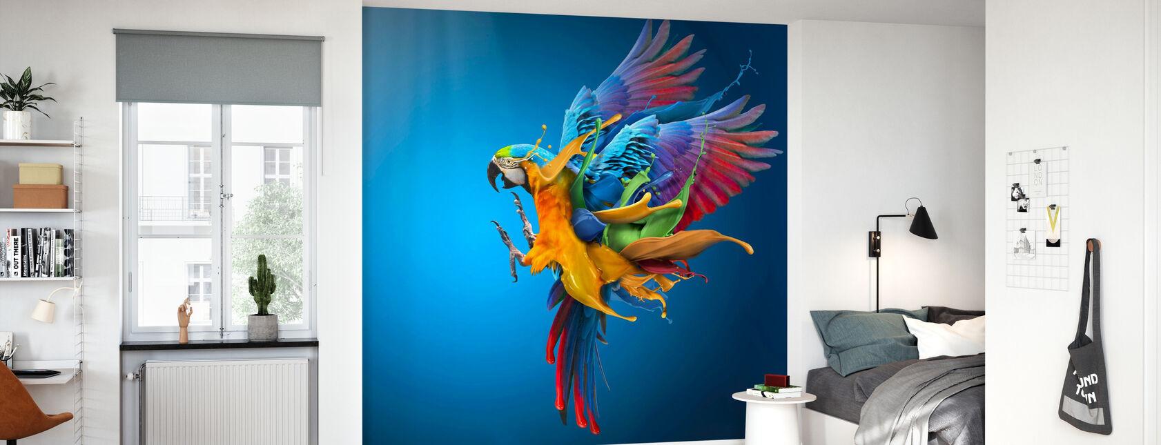 Vliegende kleuren - Behang - Kinderkamer