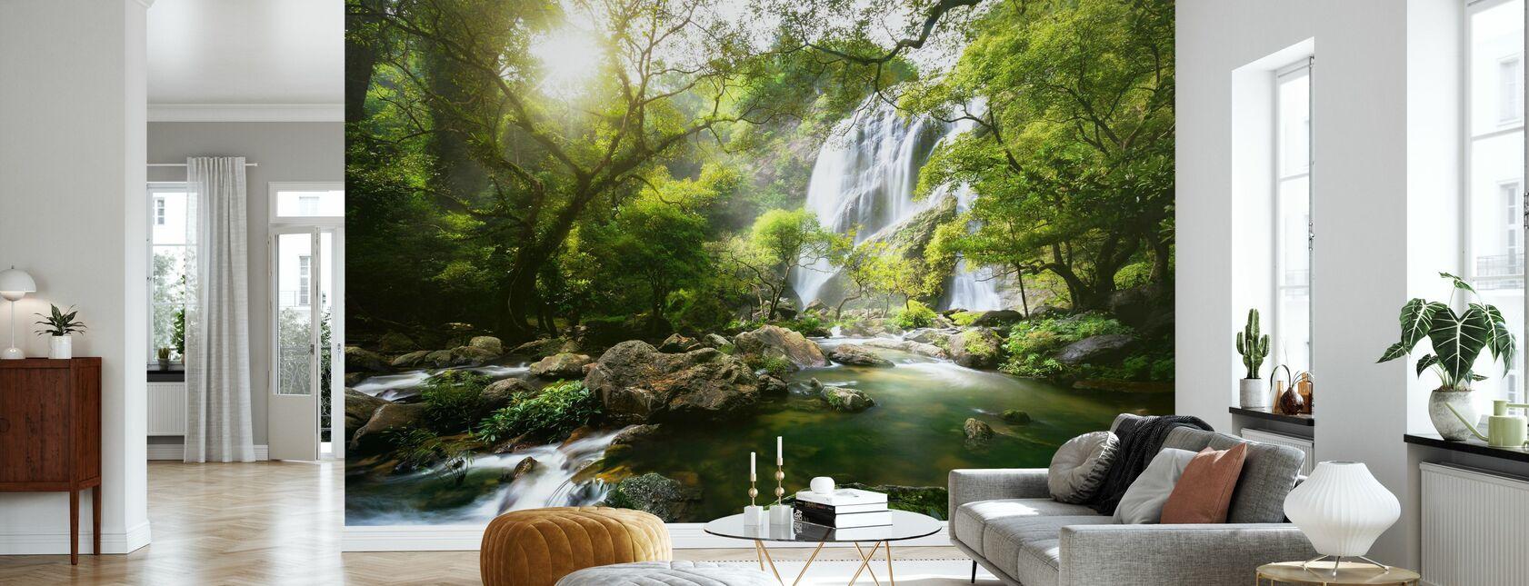 Mountain Stream - Wallpaper - Living Room