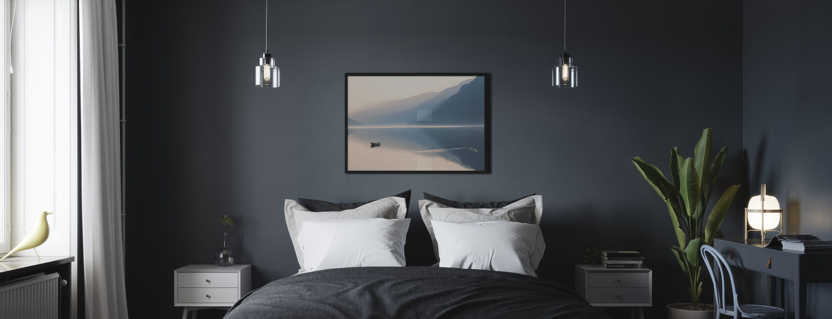 Vielä ilta - Kehystetty kuva - Makuuhuone