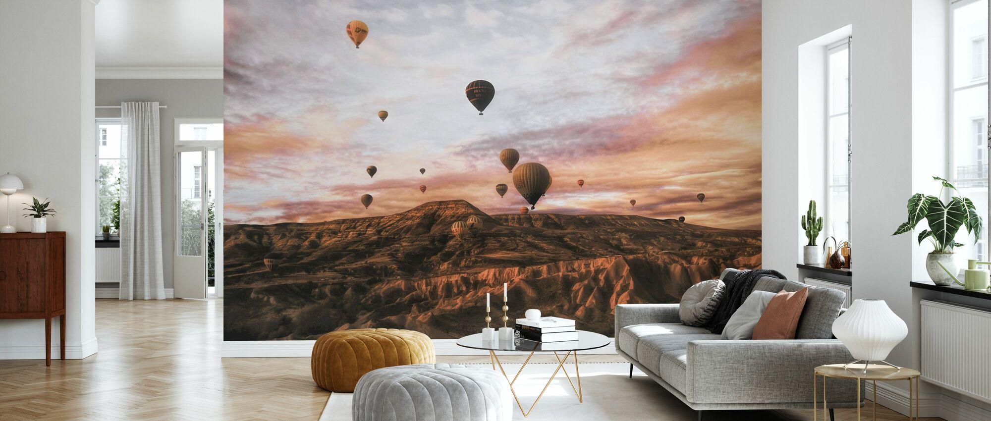 Cappodocia varmluftsballong - Tapet - Stue