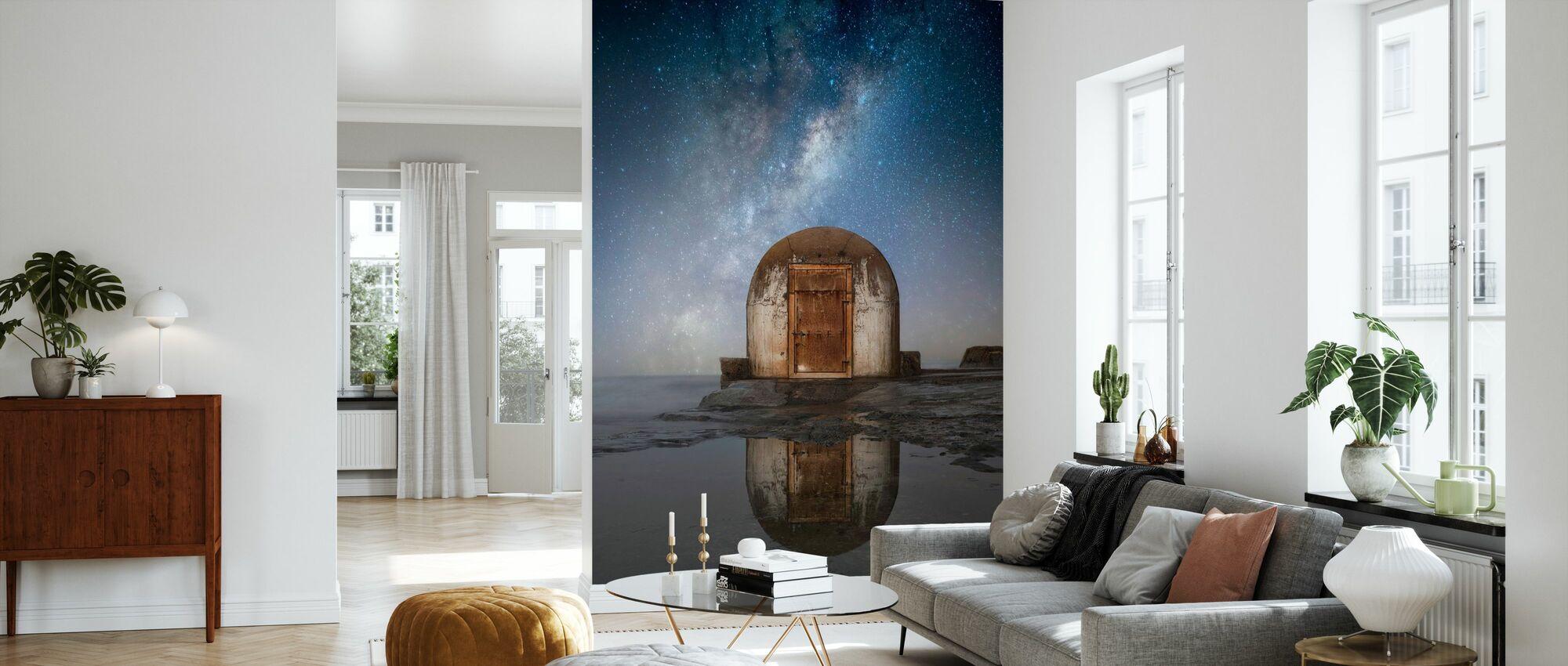 Lonely Hut - Wallpaper - Living Room