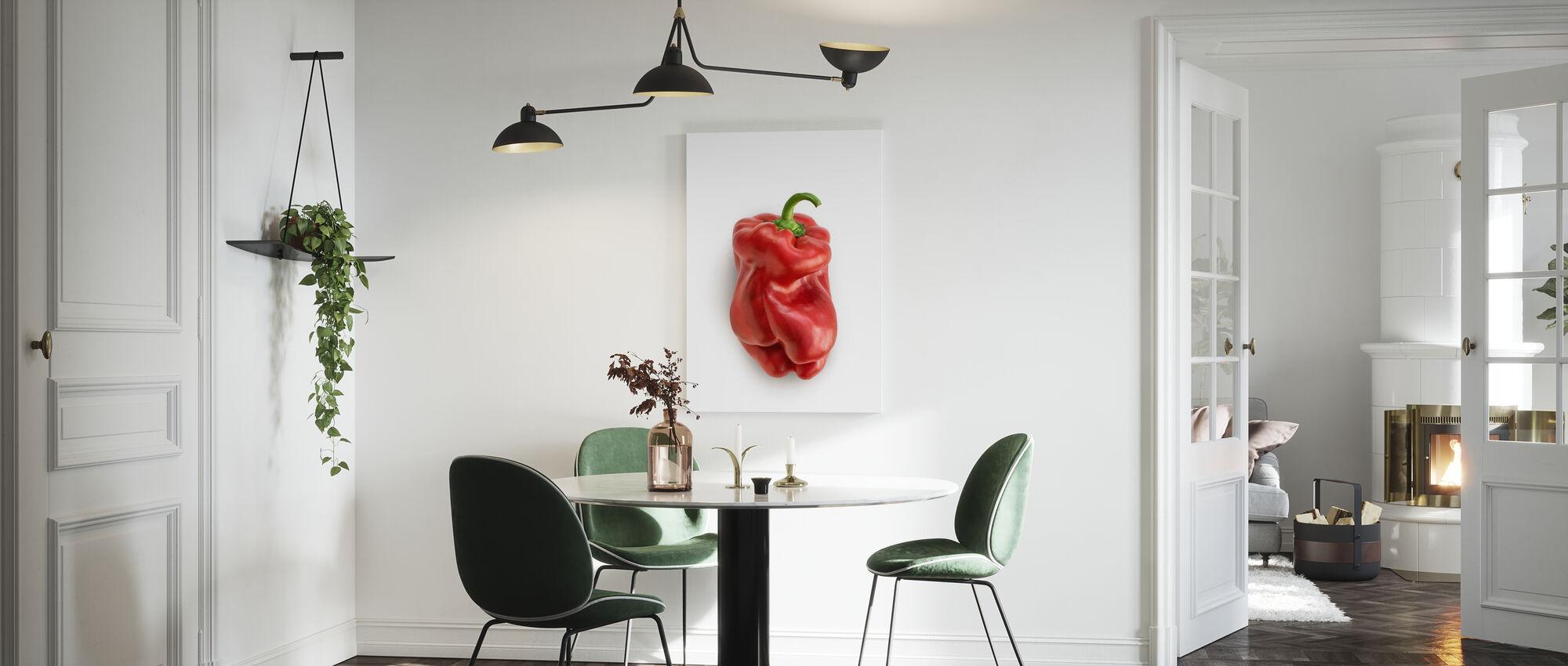 Red on White - Canvas print - Kitchen