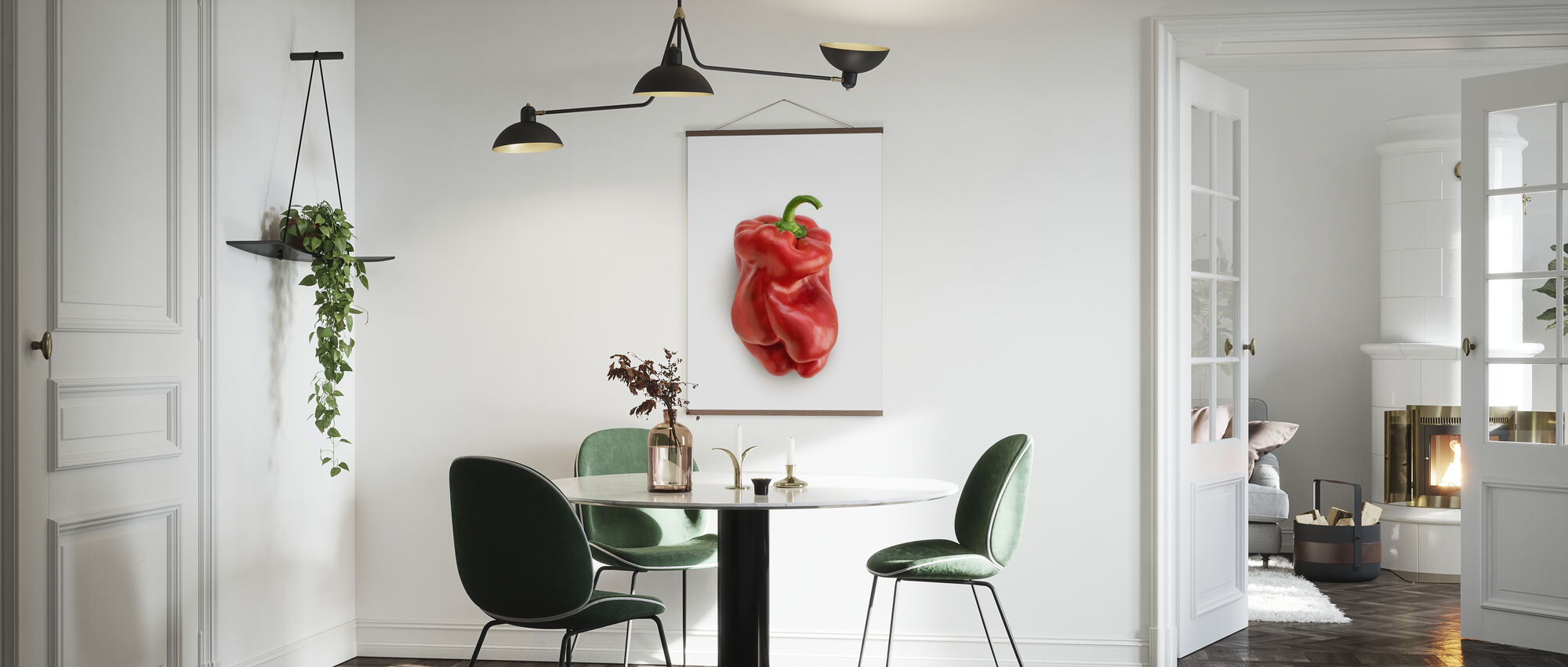 Red on White - Poster - Kitchen