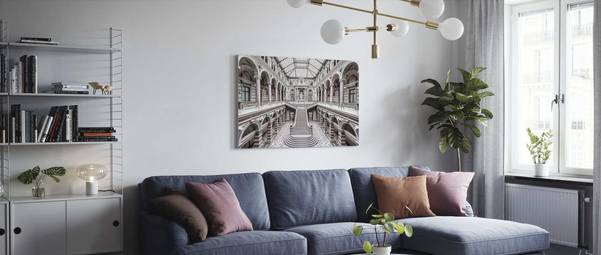 Vienna Palace of Justice - Canvas print - Living Room
