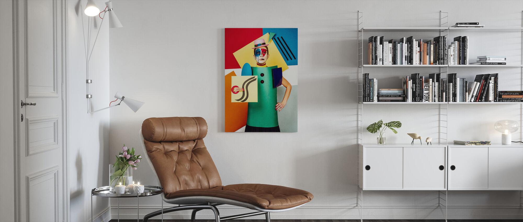 Suprematist Portrait of Lena Naymkina - Canvas print - Living Room