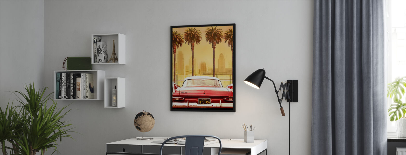 Plymouth Savoy kanssa Palms - Juliste - Toimisto