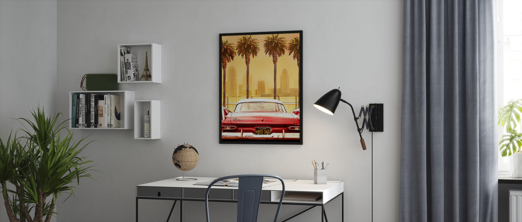 Plymouth Savoy with Palms - Poster - Office