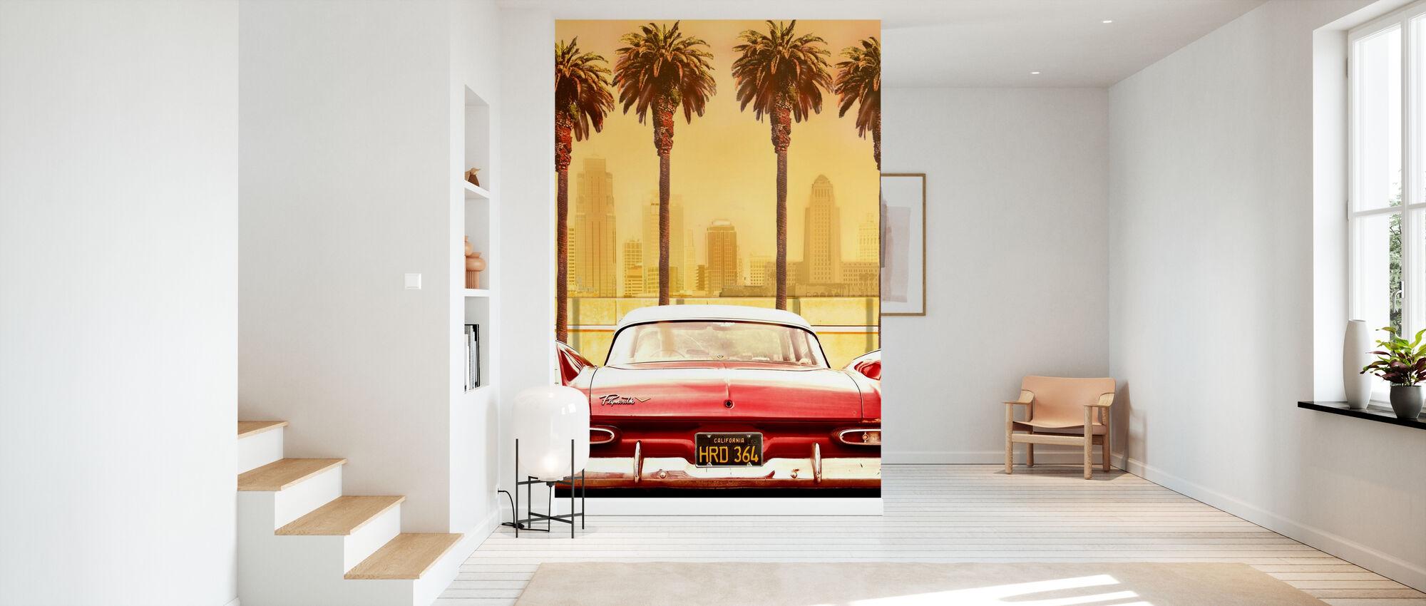 Plymouth Savoy med palmer - Tapet - Hall