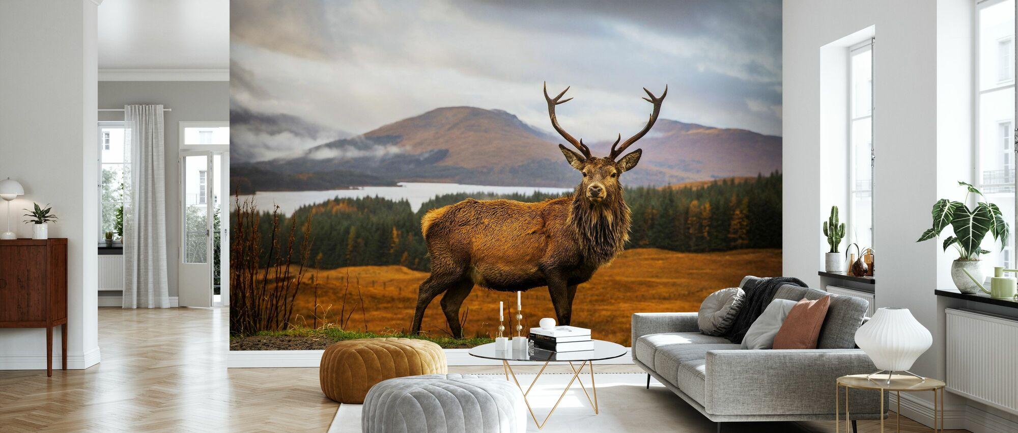 Schotse hert - Behang - Woonkamer